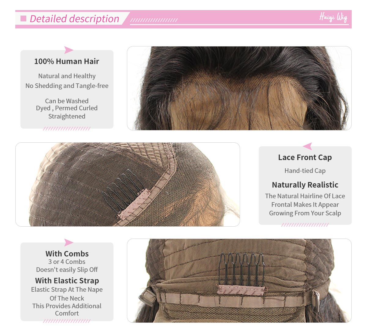 lace front wig detailed haiyi